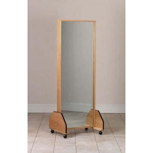 Portable Adult Single Mirror with Casters 27 W x 72 H