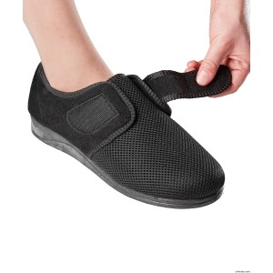 Indoor Outdoor VELCRO Shoes Wide Shoes Slippers For Women With VELCRO Brand Straps