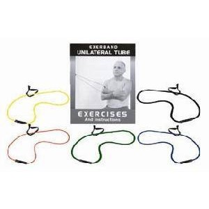 Exerband Clinic 6' Unilat Loop Tubes With Book Set/5