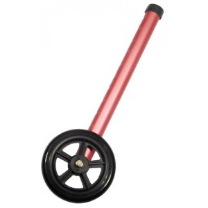 Walker Wheels Pink 5 Pair With 2 Sets of Rear Glides
