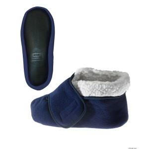 Womens Bootie Slipper & Mens Bootie Slippers With VELCRO Brand Fasteners - Diabetic & Edema