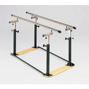 Folding Parallel Bars 7' With Wood Base