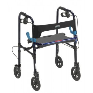 Clever Lite Folding Walker With Seat and Brakes