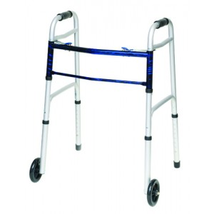 Folding Walker With 5 Wheels Adult--(ProBasic)