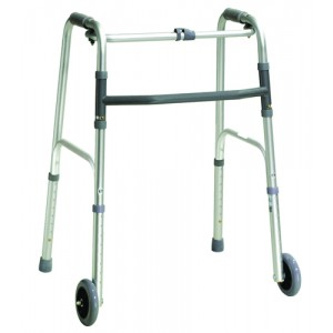 Walker Folding One-Button Adult With 5 Wheels