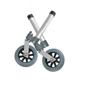 Combination Swivel/Fixed Wheels 5 With Lock & Rear Glides (Pair)