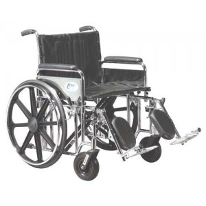 Bariatric Wheelchair Removable Full & Adjustable Height Arms 20 Wide