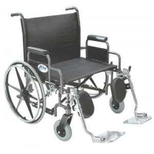 Bariatric Wheelchair Removable Full Arms 26 Wide