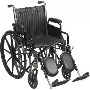 Wheelchair Economy Removable Full Arms 20 With Swing-Away Footrests
