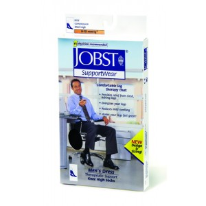 Jobst For Men 8-15 Sock Over-The-Calf Black Medium