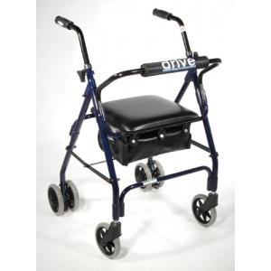 Rollator Mimi-Lite 4-Wh With Pad Seat-Push Brakes Blue