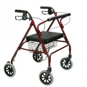 Rollator Oversize With Loop Black Red Bariatric Steel