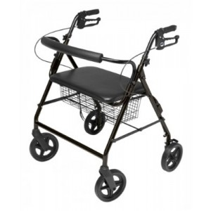 Oversize Rollator With Loop Black Bariatric Aluminum Frame