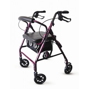 Rollator Alum - Flame Purple with Loop Brakes - PMI