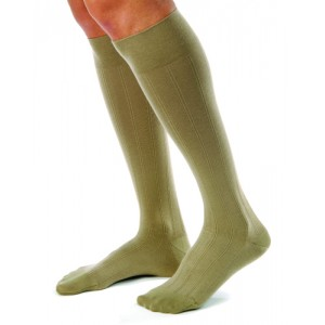 Jobst for Men Casual Medical Legwear 20-30mm High Small Khaki