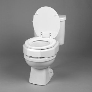 Elevated Toilet Seat Hinged 3 Secure Bolt Standard Bariatric