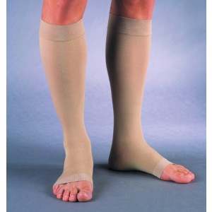 Jobst Relief 30-40 Knee High Open Toe Beige Large Full Calf (Pair)