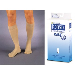 Jobst Relief Knee High CT 15-20 mm High Beige Large
