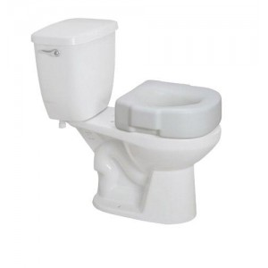 Raised Plastic Toilet Seat - White