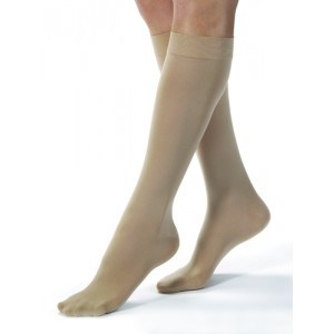 Jobst Opaque Knee High 20-30 mm High Silky Beige Large Full Calf