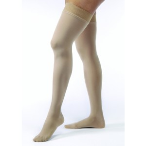 Jobst Opaque Thigh High 15-20 Black Medium
