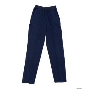 Arthritis Elastic Waist Pull On Jean Pants For Women With 2 Pockets