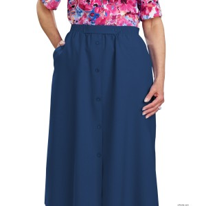 Womens Regular Elastic Waist Skirt With Pockets - Arthritis