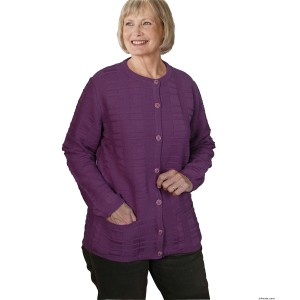 Womens Cardigan Sweater With Pockets - Quality Cardigan For Elderly Senior Women