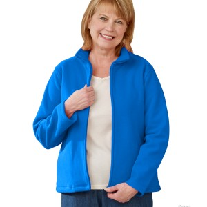 Zipper Front Polar Fleece Jacket For Women
