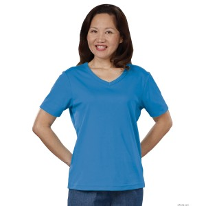 Womens Regular T-Shirt - Short Sleeve - V Neck