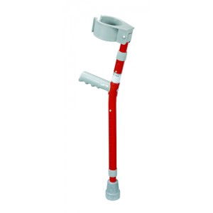 Child Forearm Crutches Red Pair