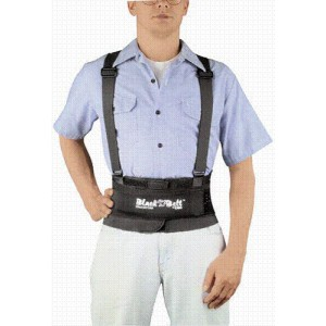Black Belt 8 Lumbosacral With Suspenders Large 34 - 40