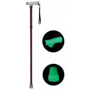Folding Alum Cane With Glow Grip Handle & Tip Copper