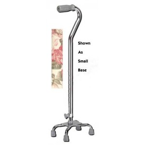 Quad Cane Small Base Floral With Soft Foam Grip