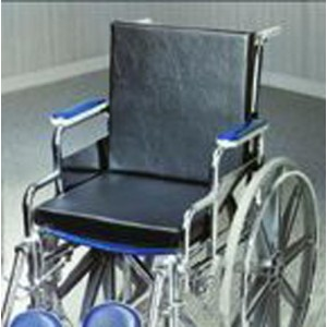 Solid Back Insert Wheelchair Cushion 18 x16 x1.25 With Strap