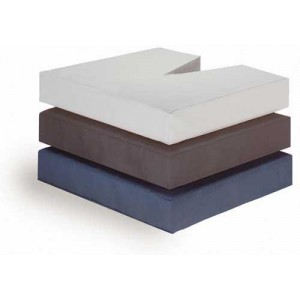 Coccyx Cushion-Foam With Wood Insert-18 W x 16 D x 3 Grey