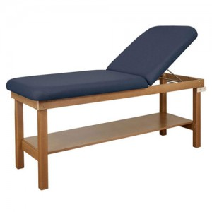 Treatment Table 30 X 72 H-Br with Shelf & Backrest Wooden