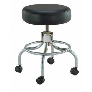 Classic Doctors Stool Without Back With FootRing &Casters Drive