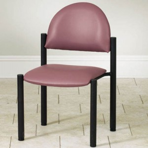 Waiting Room Black Frame Chair Without Arms