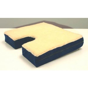 Coccyx Gel Seat Cushion With Fleece Top 18 Wx16 D x 3