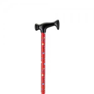 Cane T-Grip Red Bliss