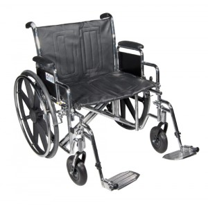 Wheelchair Standard Dual-Axle 22 With Removable Desk Arms & S/A Footrest