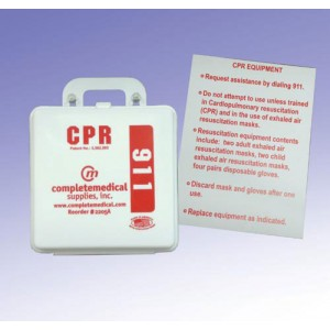 First Aid Kit-CPR Restaurant (New York State) With Poster