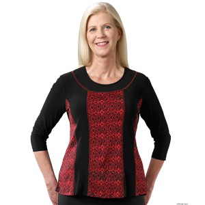 Beautiful Adaptive Open Back Clothing Top For Women - Back Snap Tops