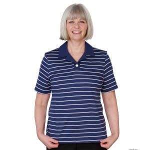 Womens Adaptive Open Back Polo Shirt - People With Disabilities