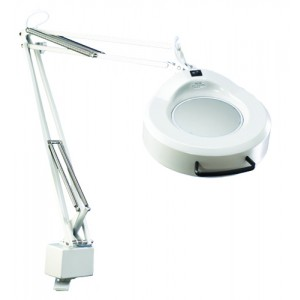 Luxo Fluorescent Magnifying Lamp With Mobile Base