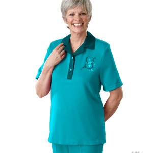 Womens Adaptive Apparel Polo T-Shirt - Disabilities Clothing
