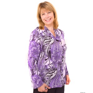Adaptive Clothing Top For Women - Nursing Home Clothing - Wrap Back