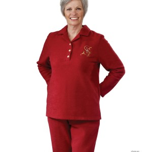 Womens Adaptive Wheelchair Tracksuit / Sweatsuit- Nursing Home Clothing - Back Snap