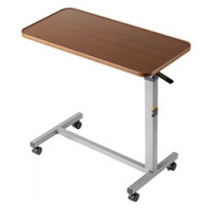 Overbed Table Non-Tilt With Chrome Finish (30 x15 )